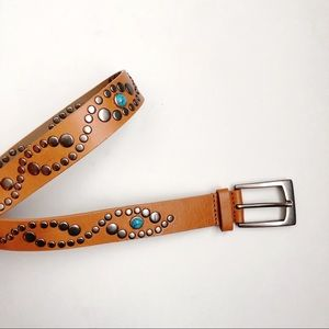 Leather Studded Belt